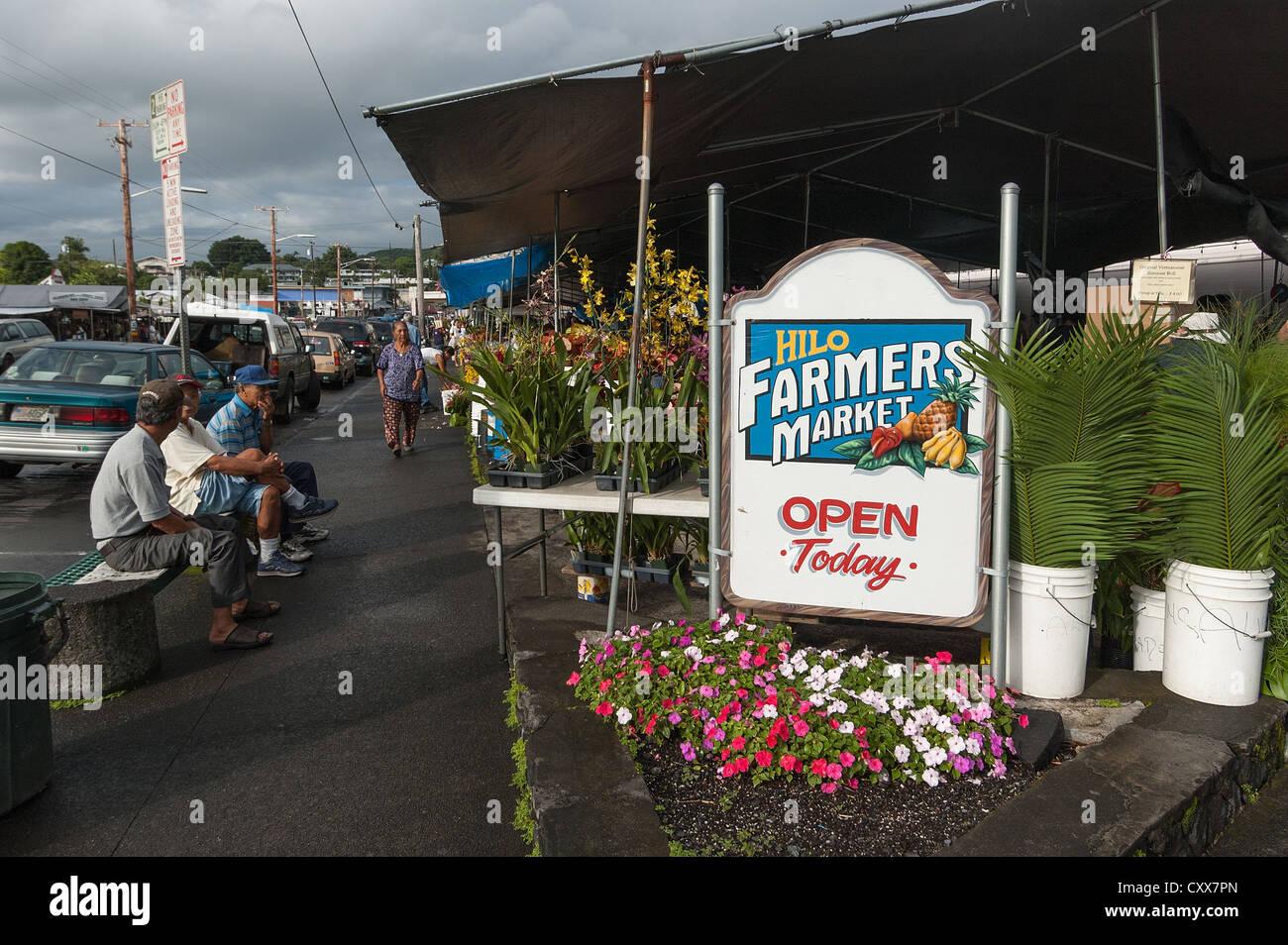 Elk284-2039 Hawaii, Hilo, Farmers Market - Stock Image