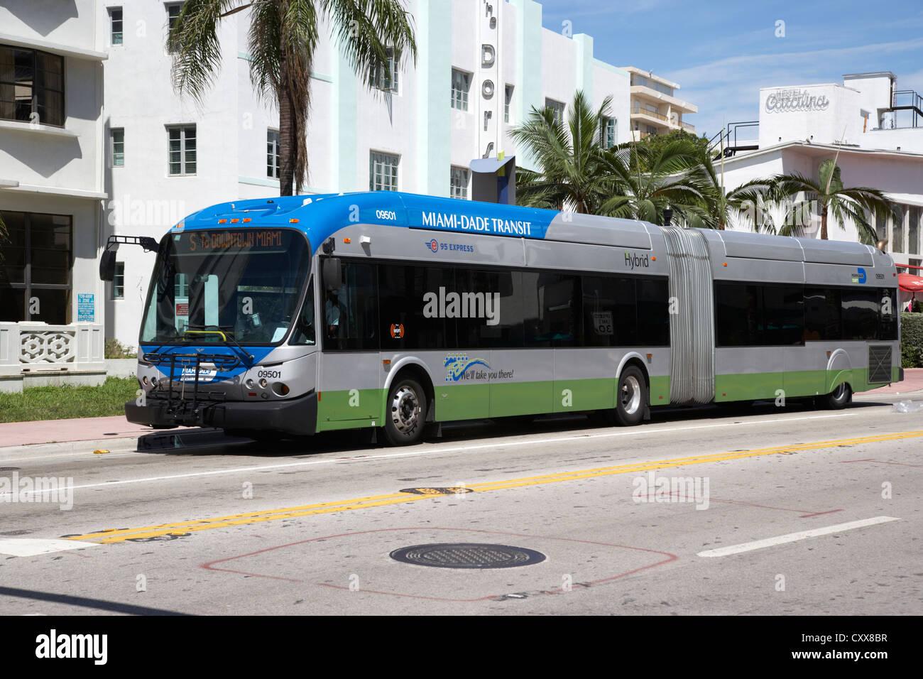 miami-dade transit hybrid public bus transport miami south