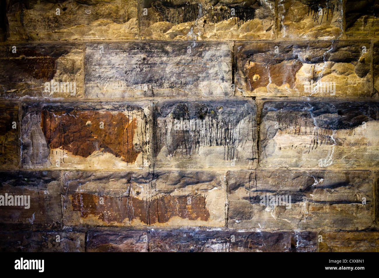 Dark Grungy Stone Background Texture - Stock Image