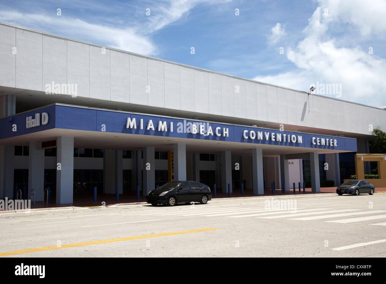 miami beach convention center miami south beach florida usa Stock Photo