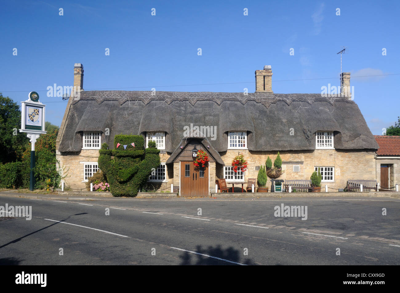 The Fitzwilliam Arms, in Marholm, Northamptonshire, England - Stock Image
