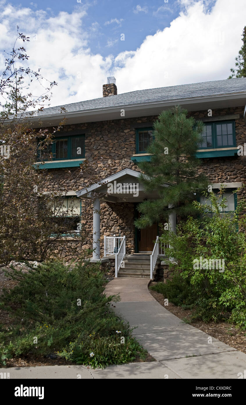 The Slipher House at Lowell Observatory, Flagstaff, Arizona, USA - Stock Image