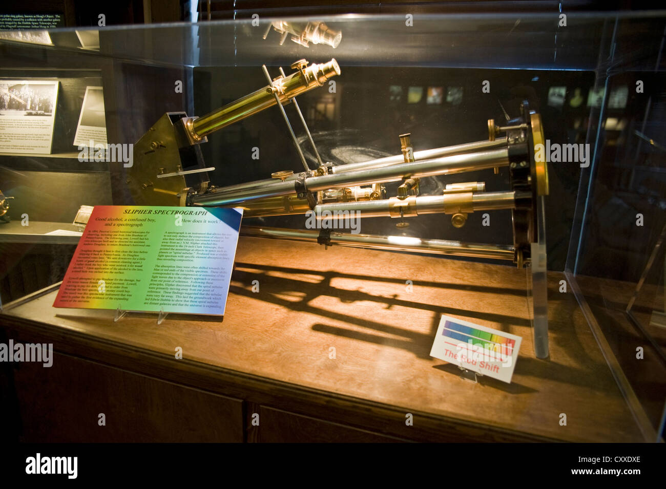 The Slipher Spectrograph at Lowell Observatory, Flagstaff, Arizona, USA - Stock Image