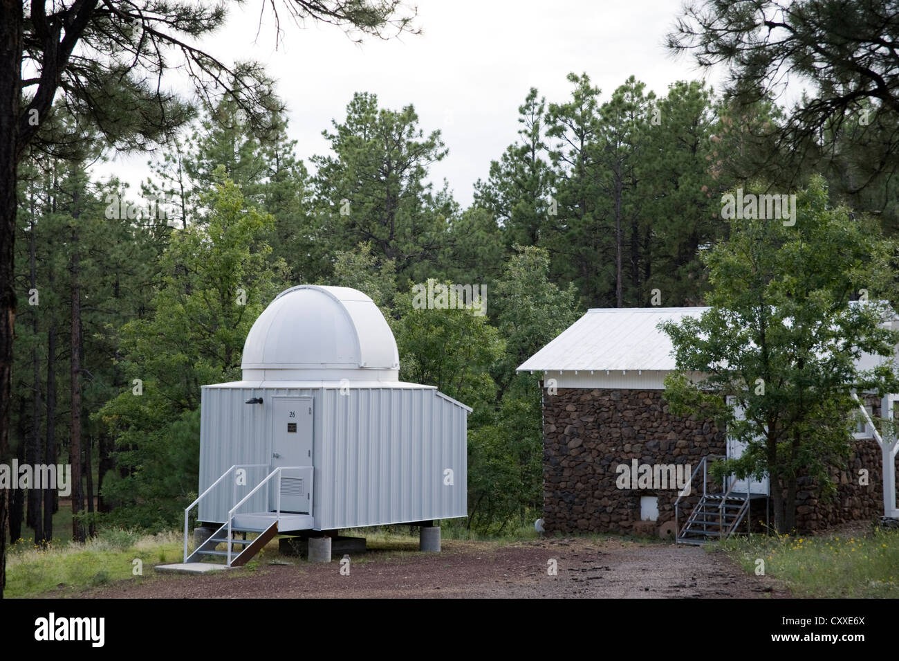 One of the telescopes at Lowell Observatory, Flagstaff, Arizona, USA - Stock Image
