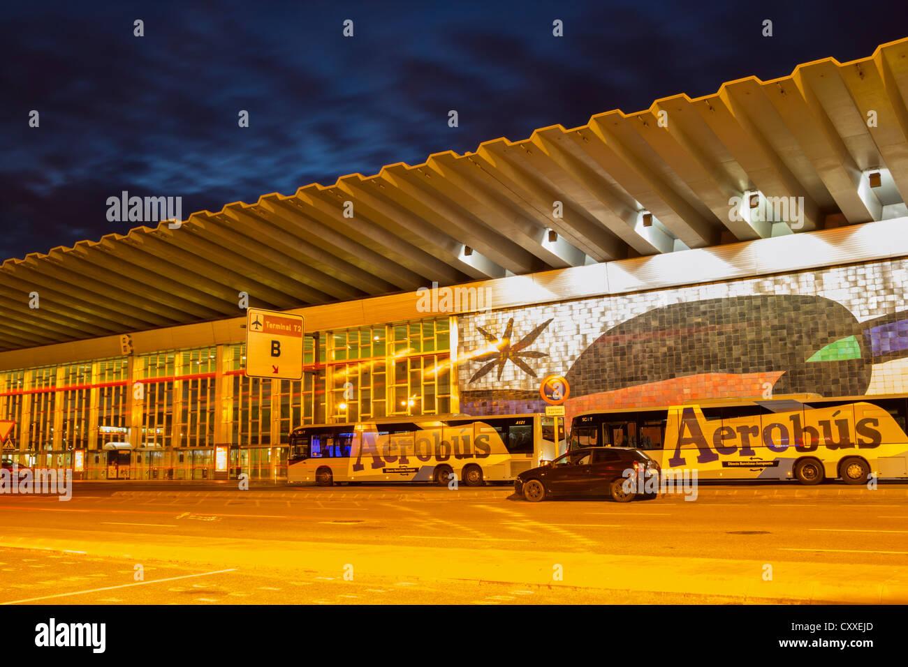Terminal 2 at El Prat airport in Barcelona, Spain, Europe - Stock Image