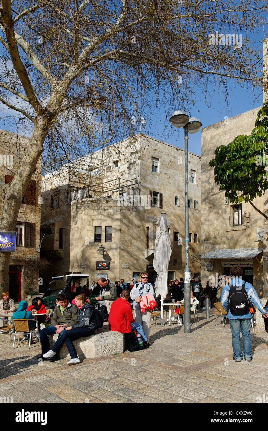 Jewish Quarter, Jerusalem, Israel, Middle East - Stock Image