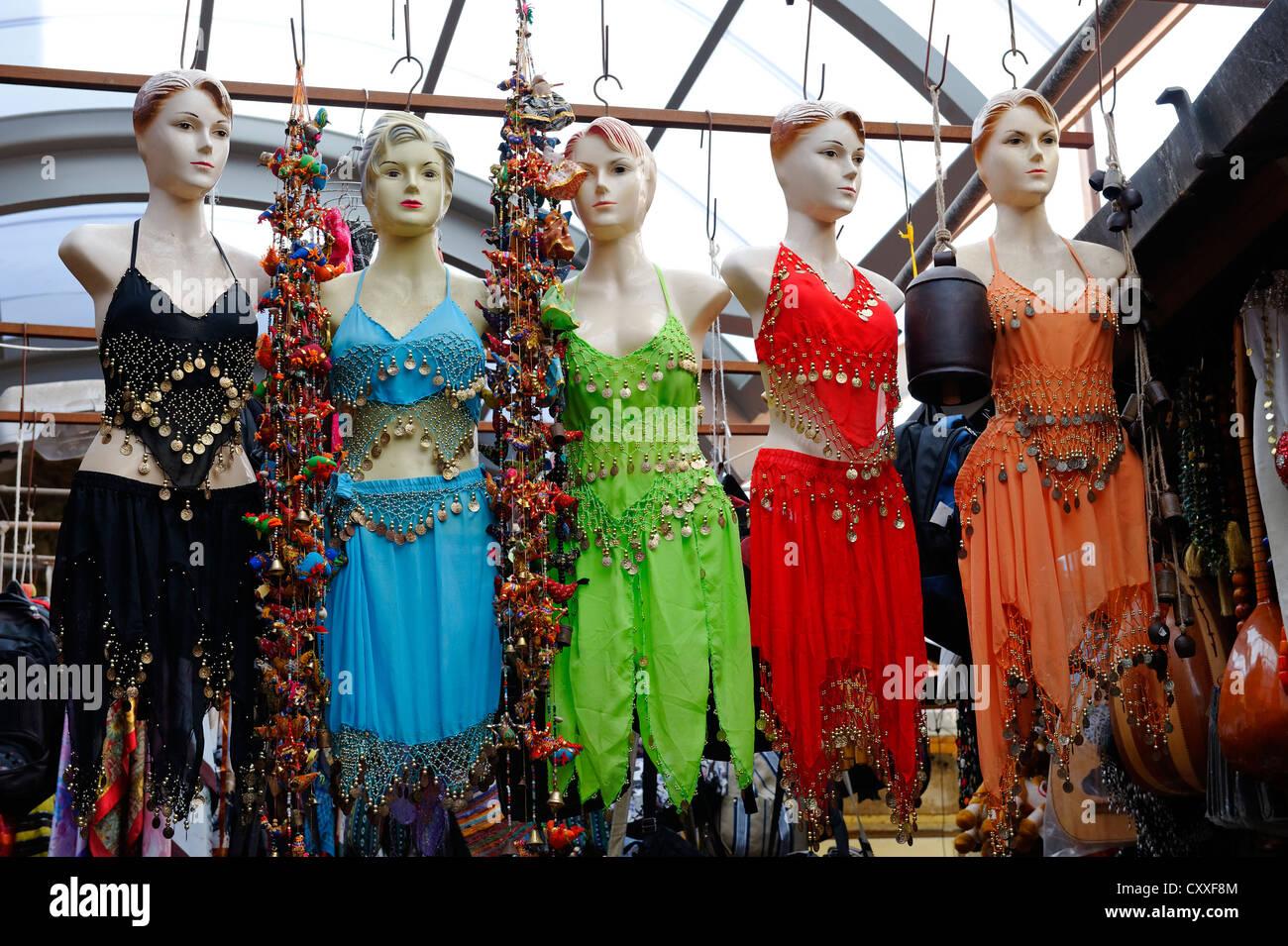 Shop-window mannequin, bazaar, souk in the historic district, Acre or Akko, Unesco World Heritage Site, Israel, - Stock Image
