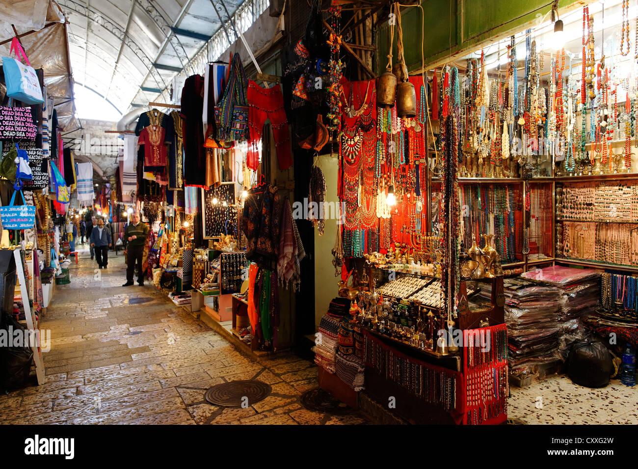 Bazaar, souk, Jerusalem, Israel, Middle East - Stock Image