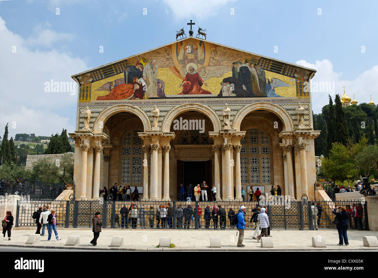 Church of All Nations, also known as Basilica of the Agony, Mount of Olives, Jerusalem, Israel, Middle East - Stock Image