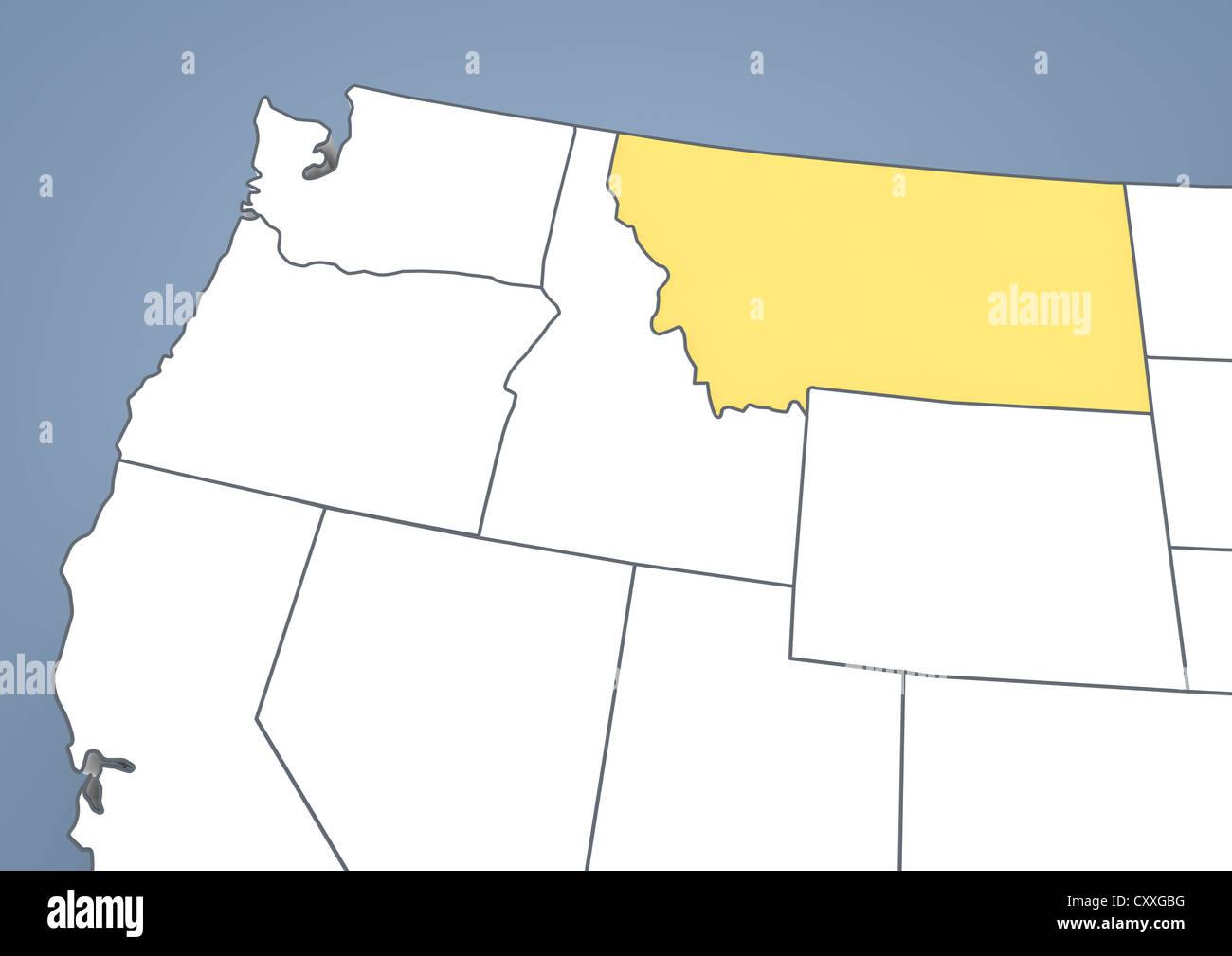 Map Of Montana Stock Photos Map Of Montana Stock Images Alamy