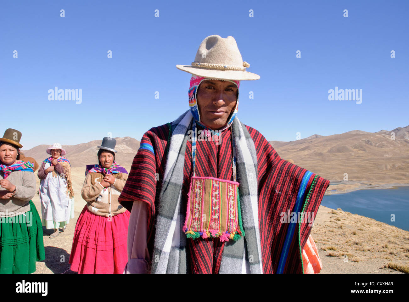 Ceremony Aymara  to the Pachamama Stock Photo