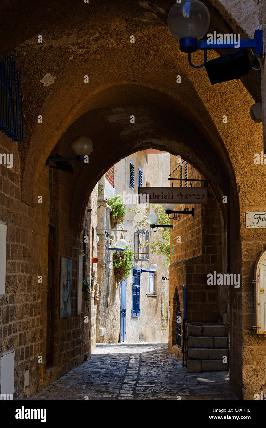 Artists' Quarter in the old city of Jaffa, Tel Aviv, Israel, Middle East Stock Photo