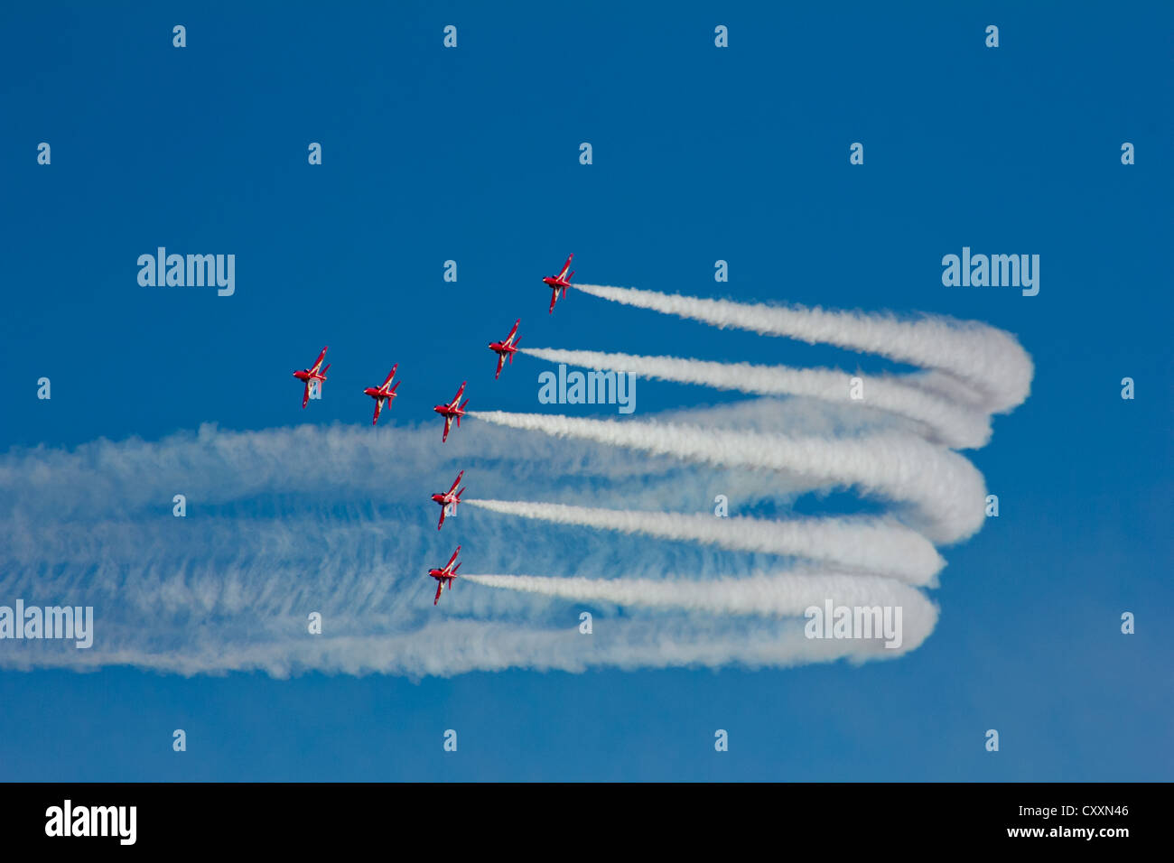 RAF Royal Air Force Aerobatic Team The Red Arrows - Stock Image
