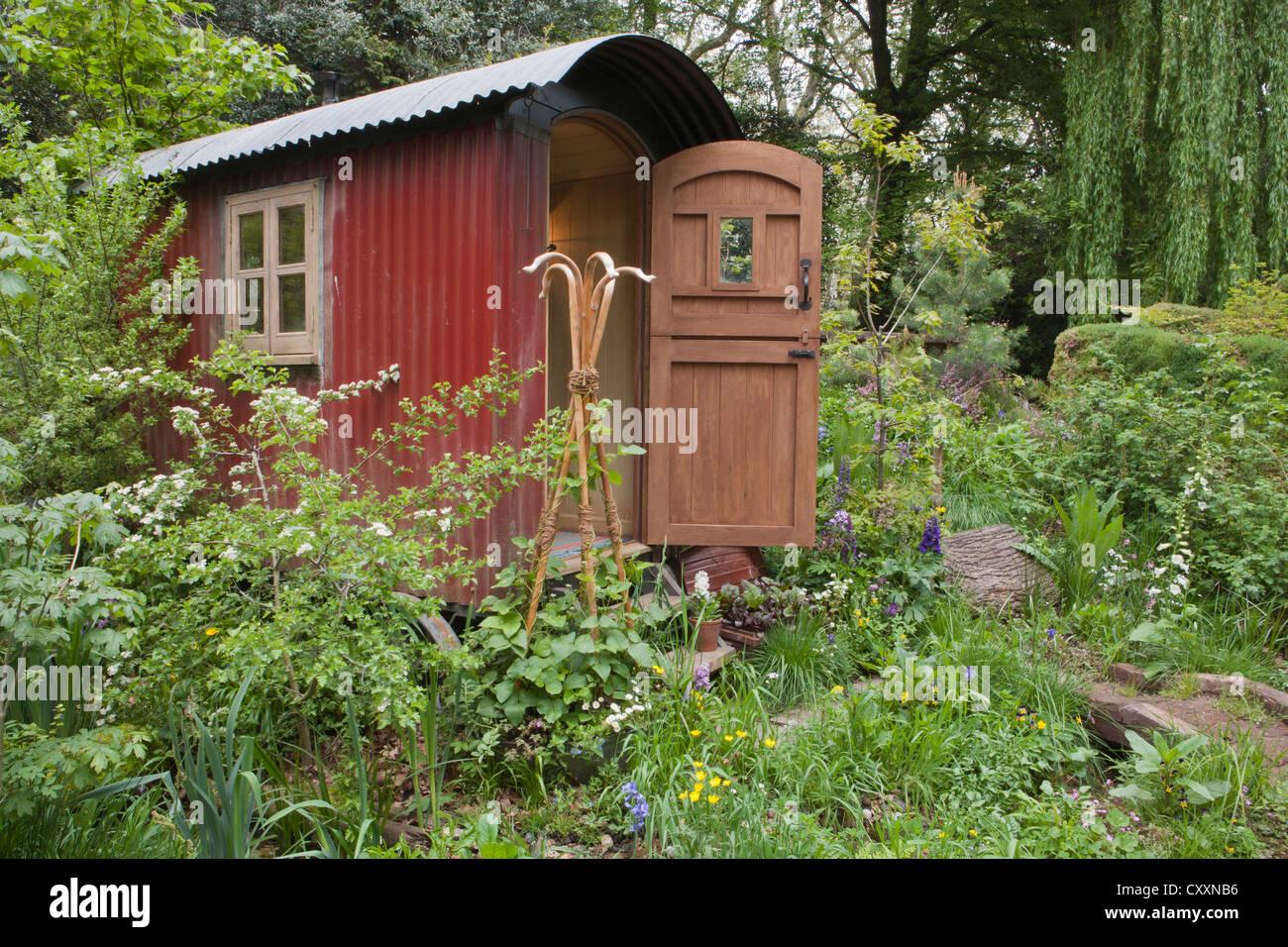Chelsea RHS flower show gardens 2012 London UK - Stock Image