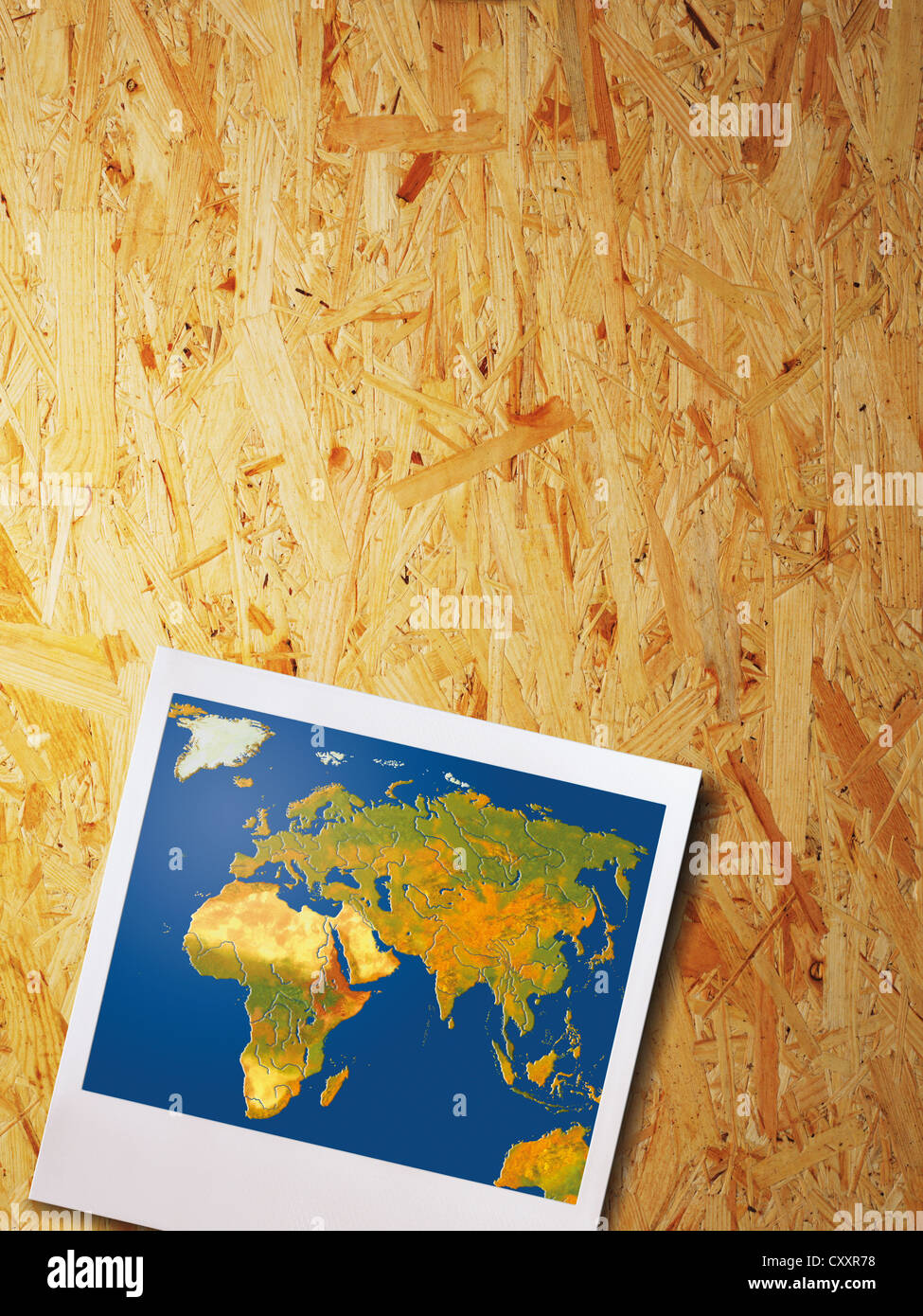 Map europe asia stock photos map europe asia stock images alamy polaroid photo with map of europe asia africa hanging on a wood panel gumiabroncs Gallery