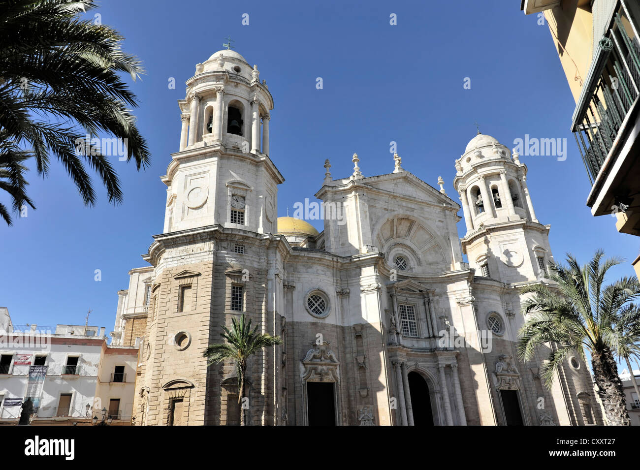 Catedral Nueva, New Cathedral, construction started in 1722, Cadiz, Andalusia, Spain, Europe - Stock Image