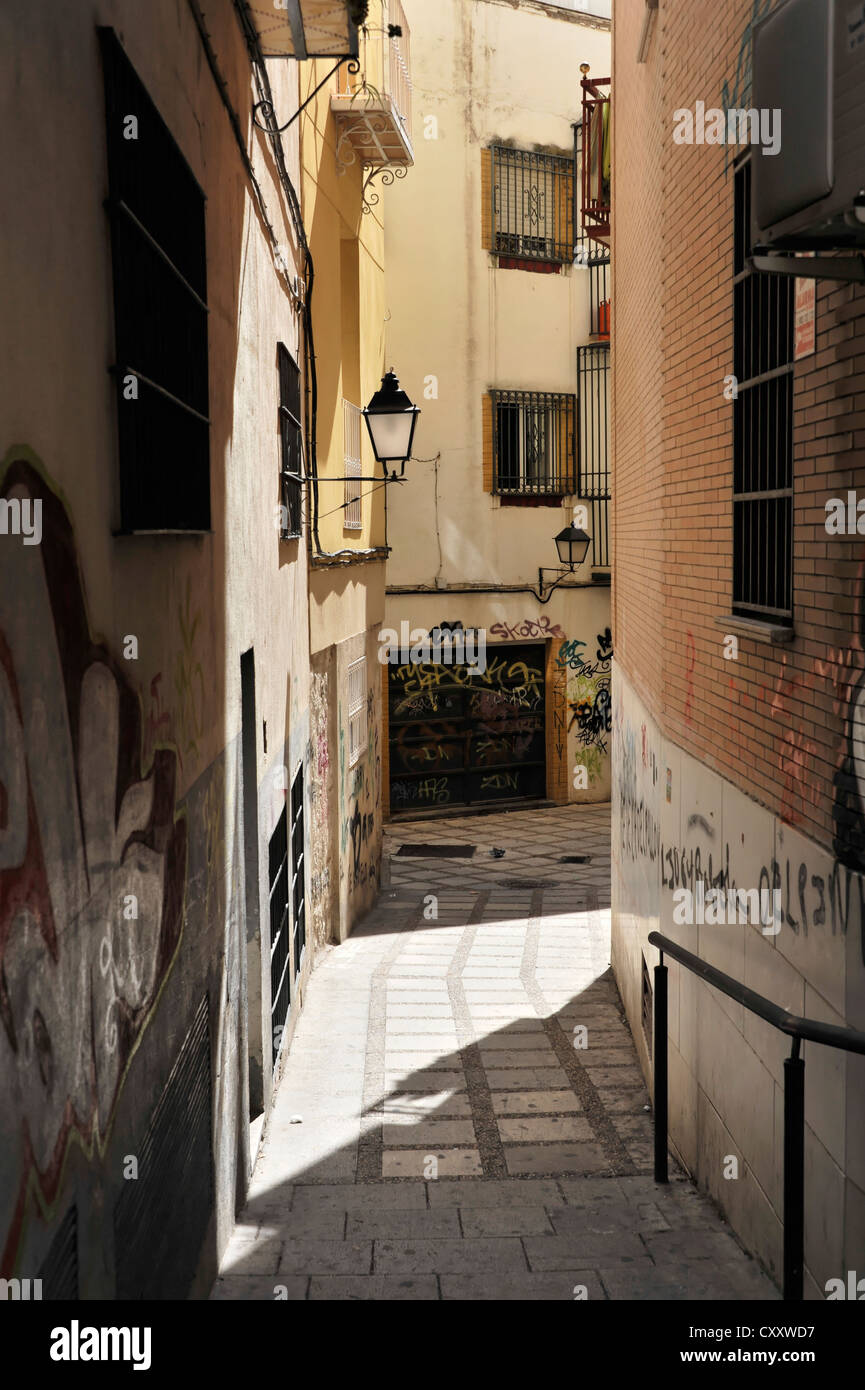 Side street, historic town centre, Jaén, Andalusia, Spain, Europe - Stock Image