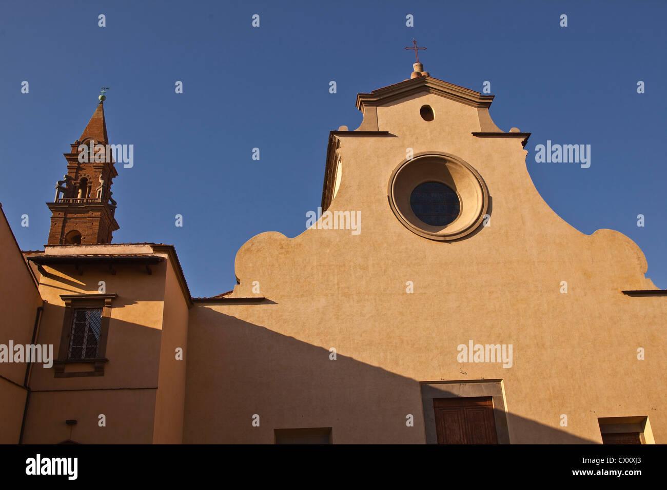 The basilica di santo spirito in Florence, Italy. Stock Photo