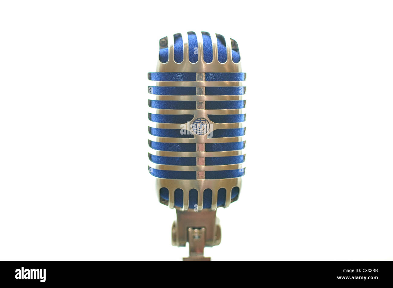 An old-style microphone. - Stock Image