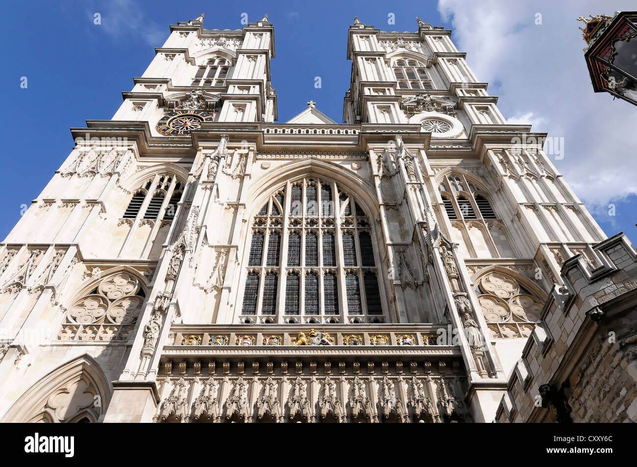 The twin towers of Westminster Abbey, London, England, United Kingdom, Europe - Stock Image