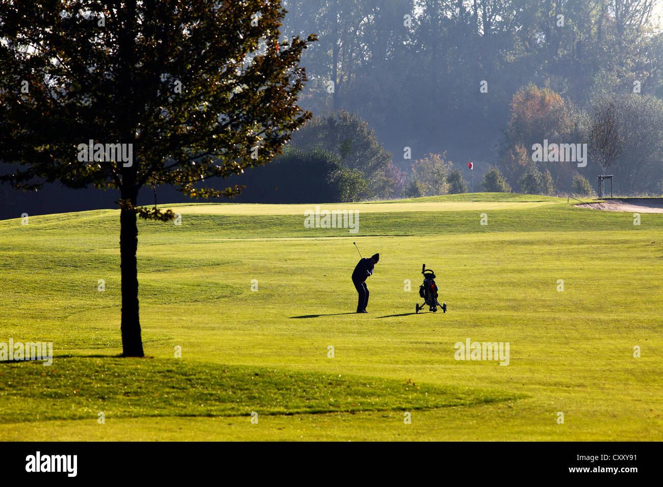 Schloss Horst golf course, lane 1, Par 5Gelsenkirchen, Germany - Stock Image