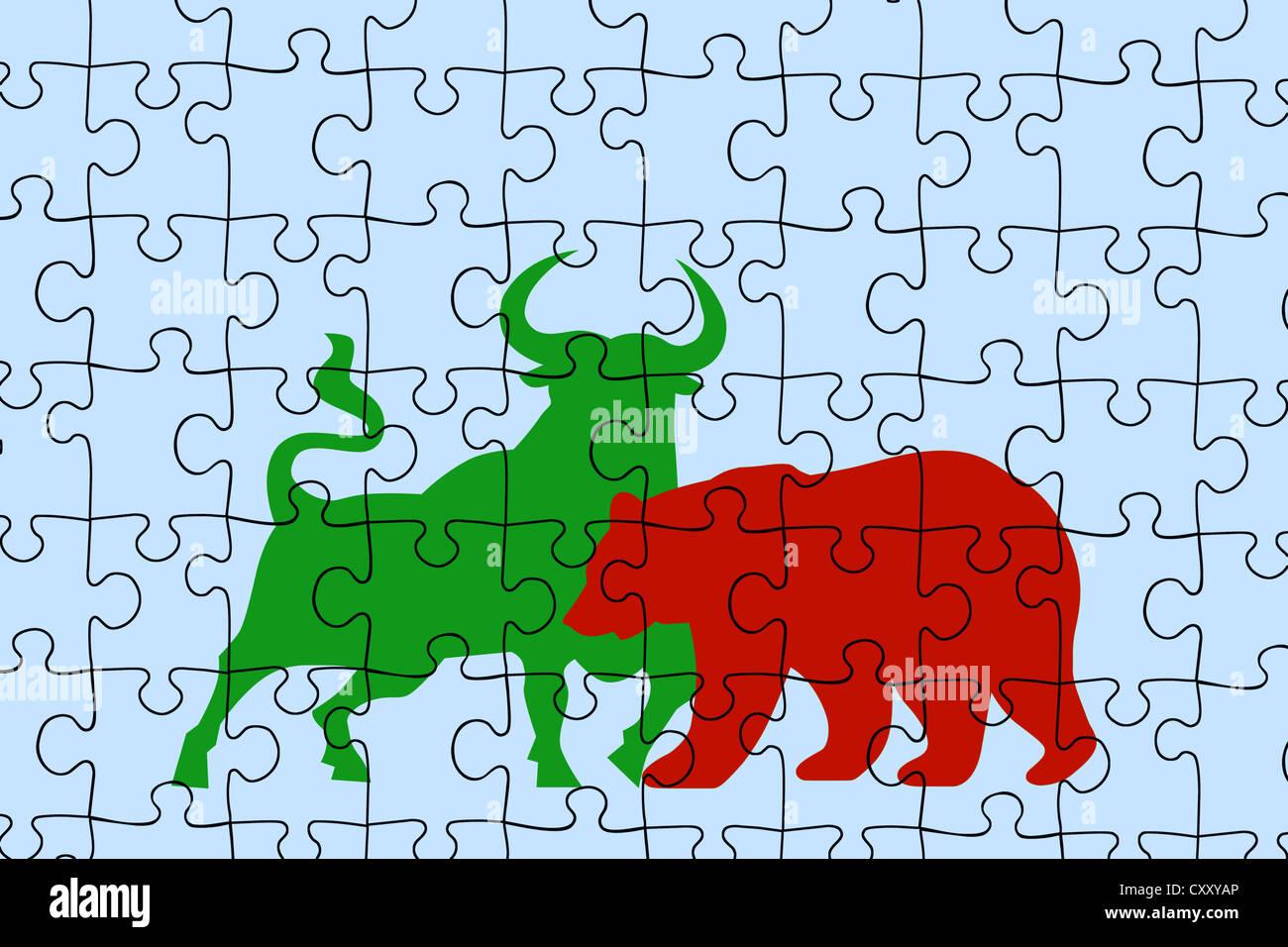Bear Bull Market Symbols Stock Photos Bear Bull Market Symbols