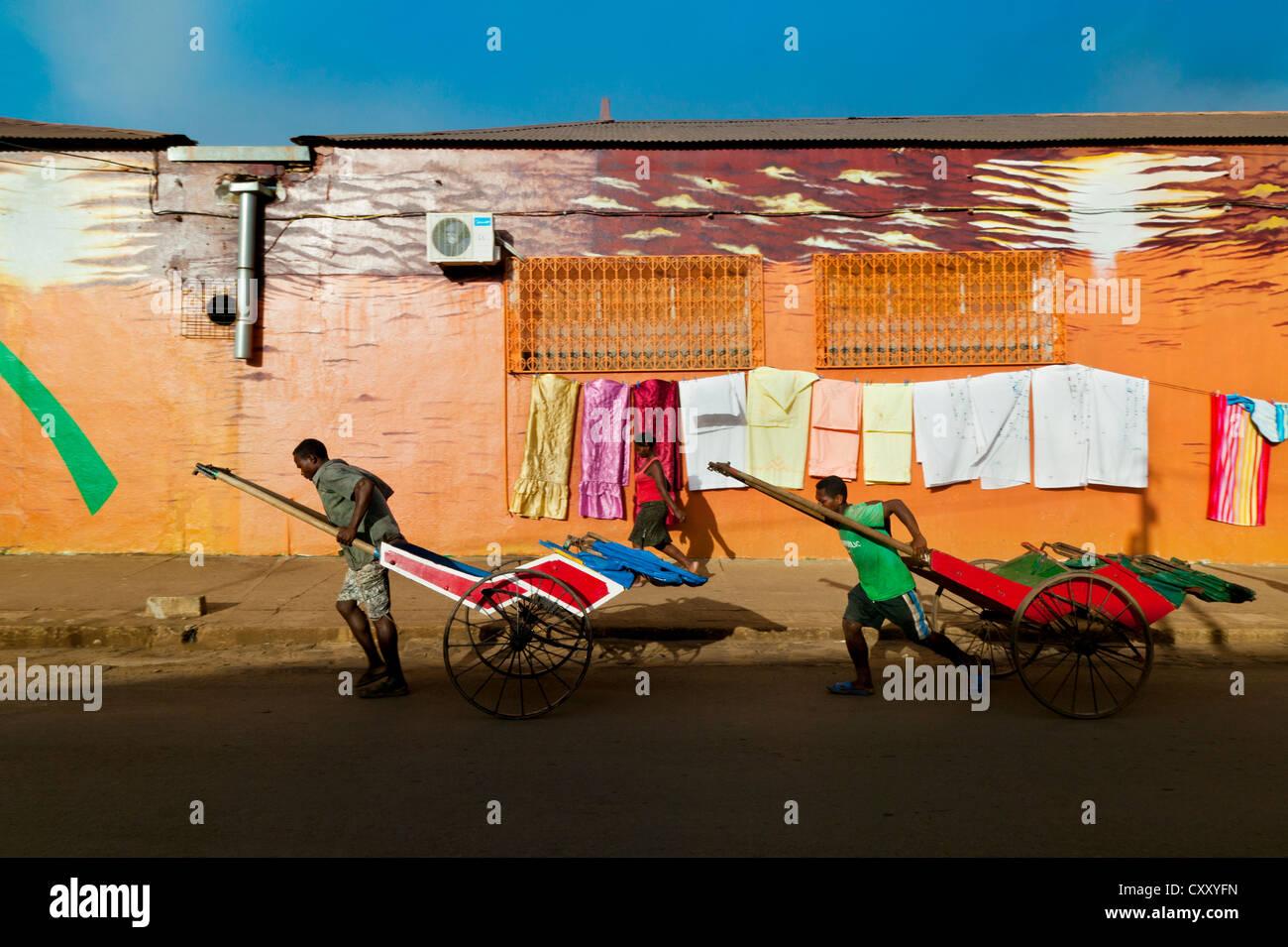 Lafayette Sreet,Diego Suarez, Madagascar - Stock Image
