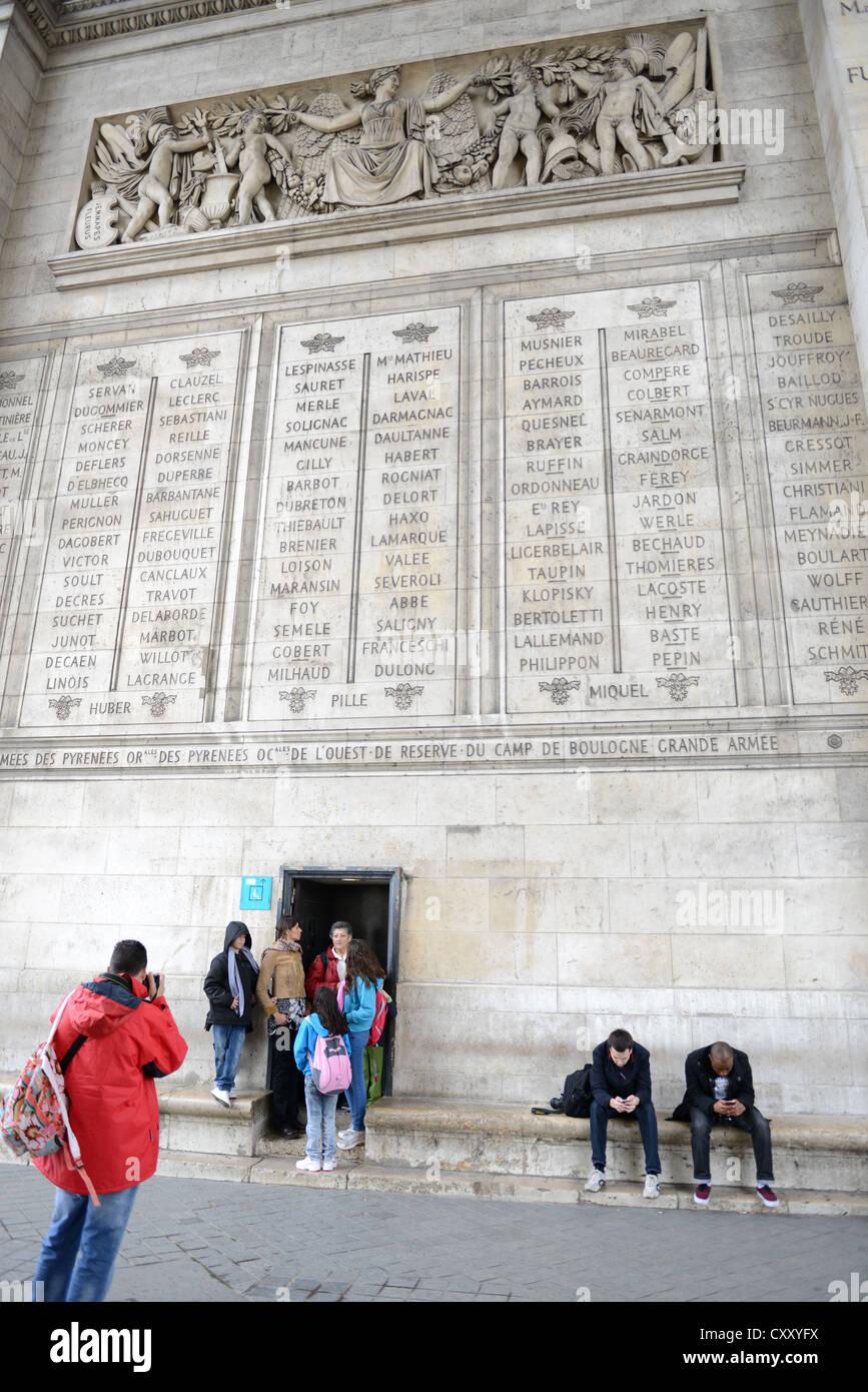 The Arc de Triomphe in Paris, France - Stock Image