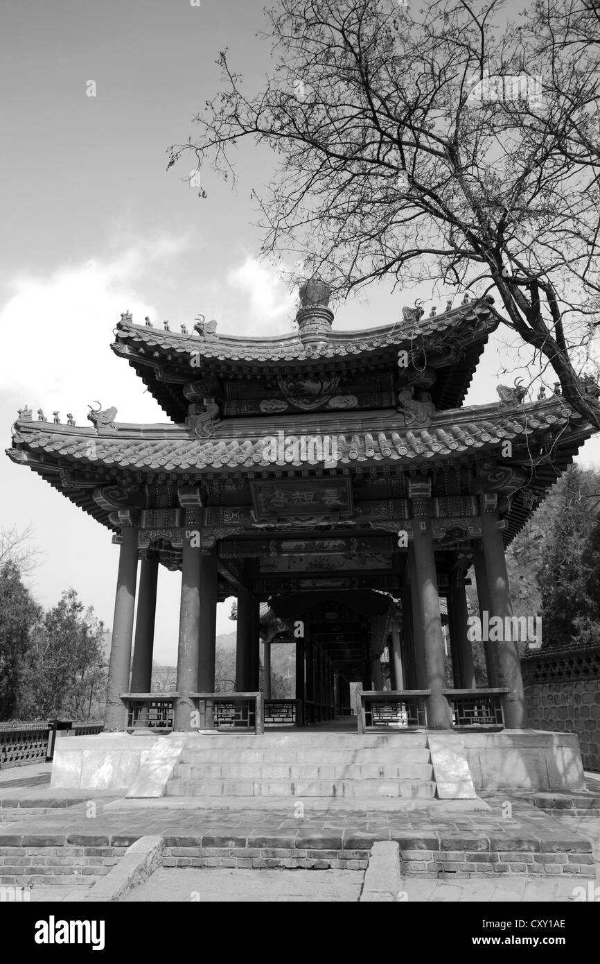 A Pagoda Shrine at the Juyongguan pass section of the Great Wall of China, Changping Provence, China, Asia. - Stock Image