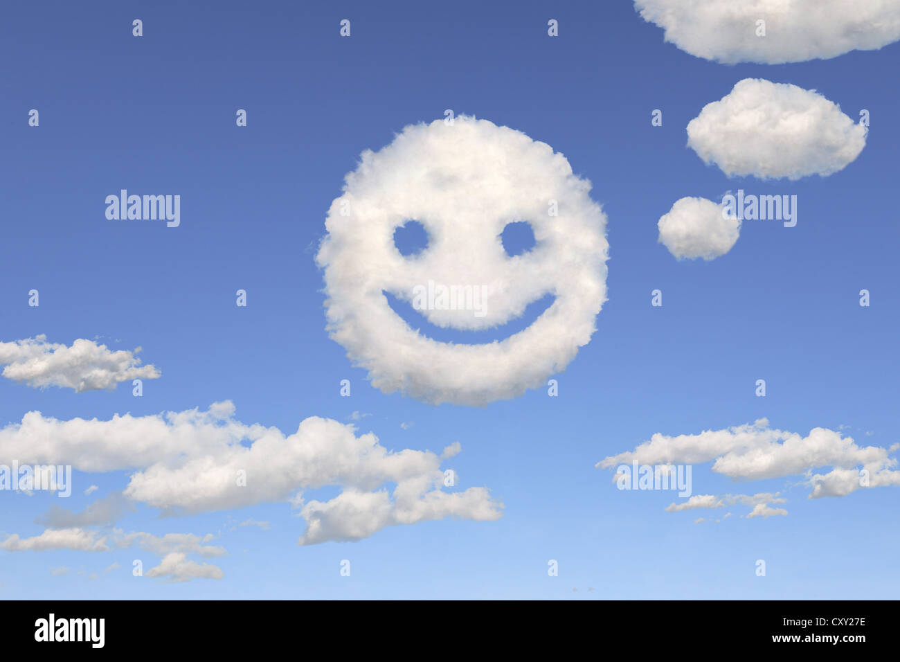 Clouds Shaped Like A Smiley Face Illustration Stock Photo 50996274