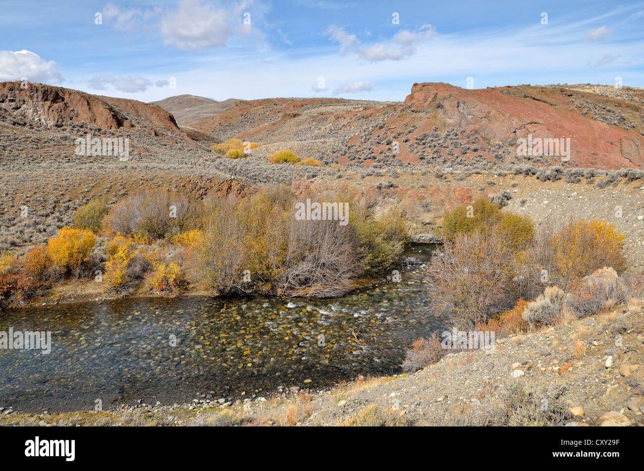 Loop of the Big Lost River, Big Lost River Valley, Idaho, USA - Stock Image