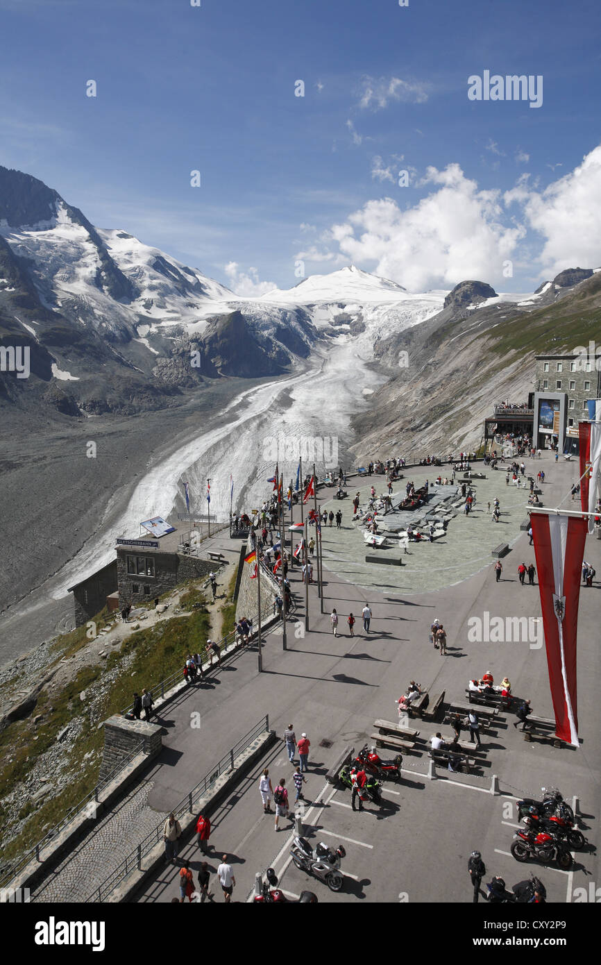 Grossglockner mountain, viewpoint, mountains and glaciers, Austria, Europe - Stock Image