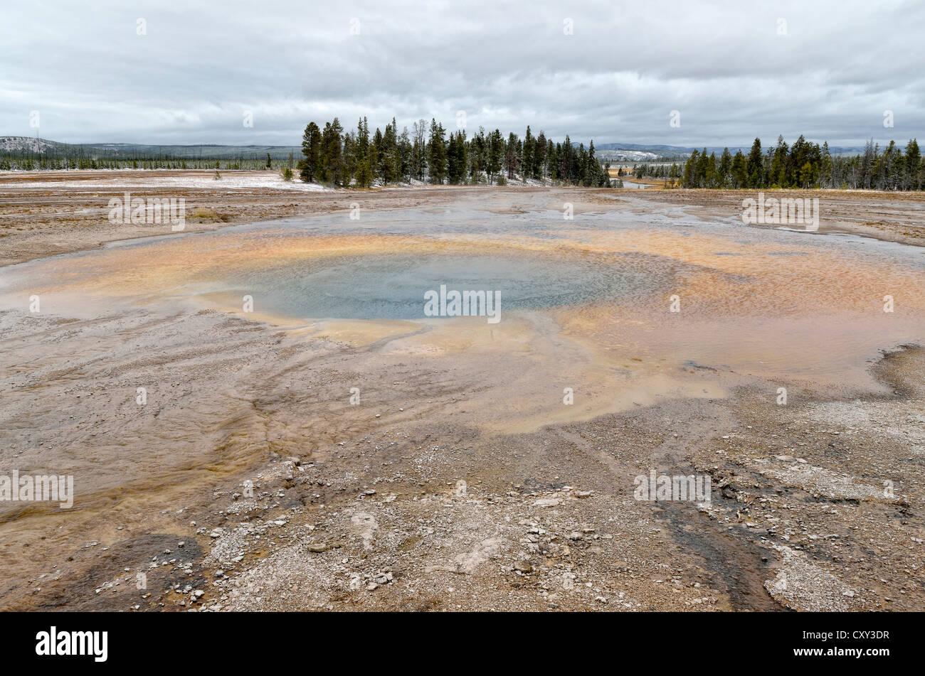 Opal Pool, Midway Geyser Basin, Yellowstone National Park, Wyoming, USA Stock Photo