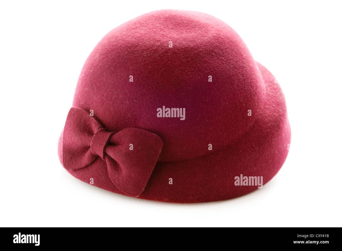 a52b0a6da7e32 Female Felt Hat Isolated Stock Photos & Female Felt Hat Isolated ...