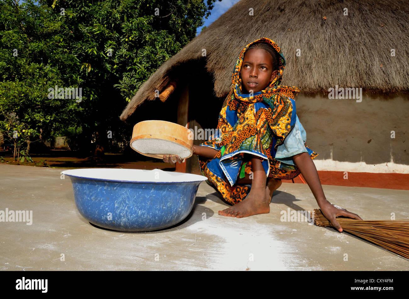 Africa village girl #3