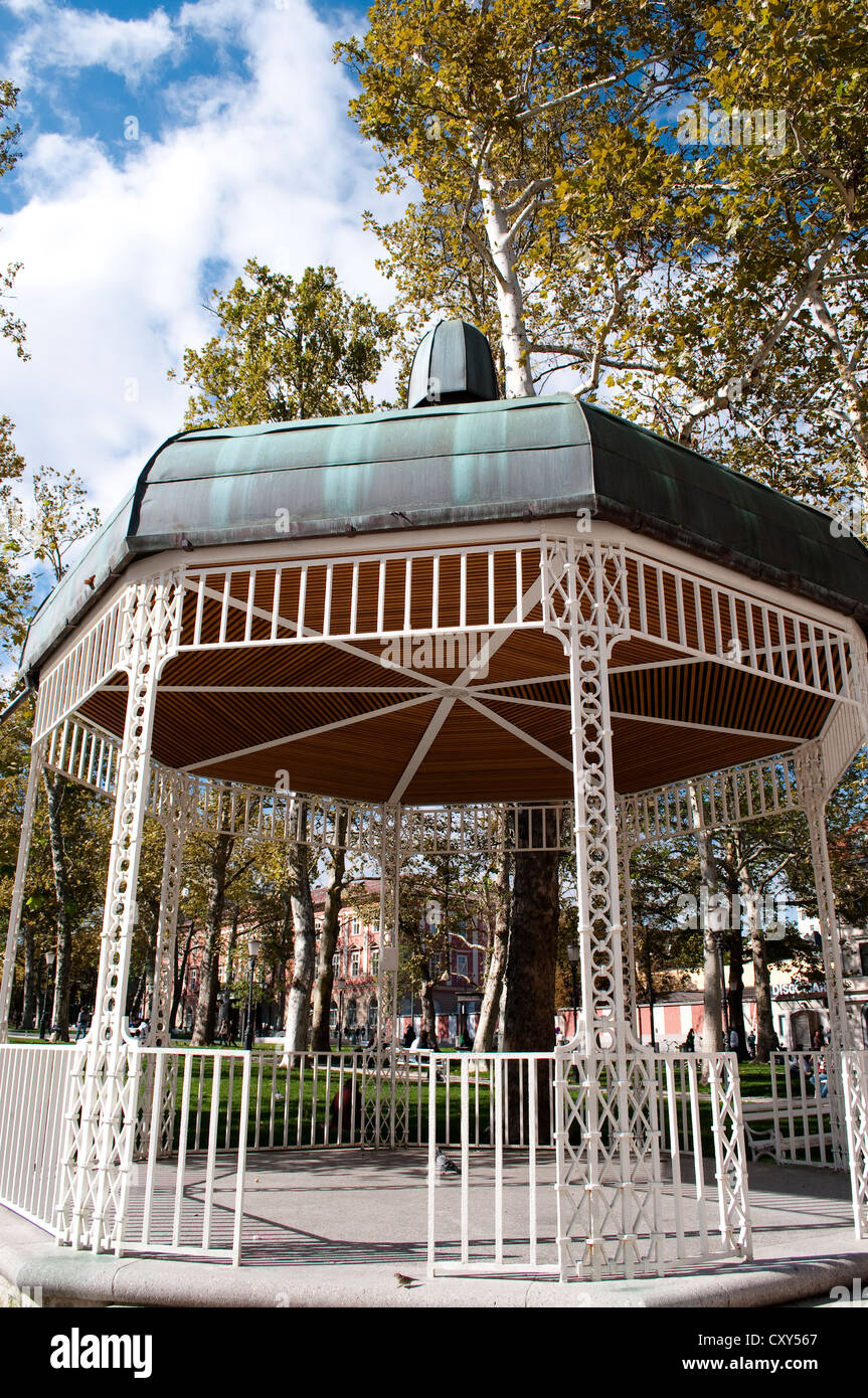 Biedermeier bandstand on Congress Square, Ljubljana, Slovenia - Stock Image