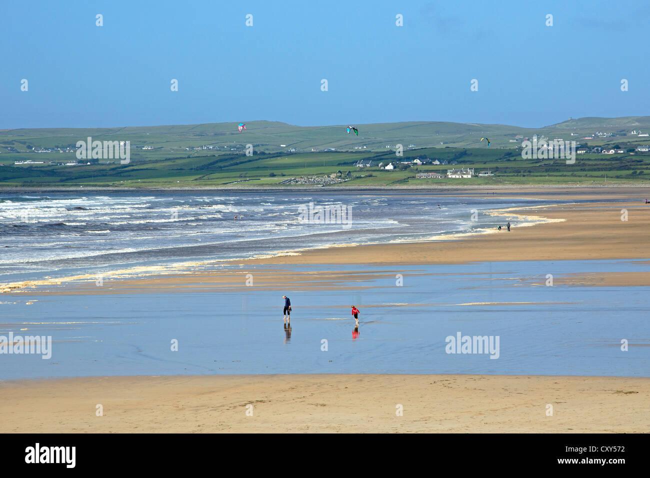 beach, Lahinch, Co. Clare, Republic of Ireland - Stock Image