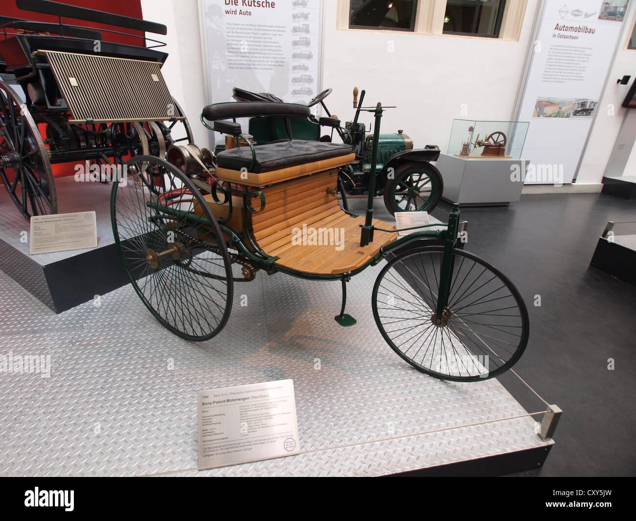 1886 Benz-Patent-Motorwagen replica - Stock Image