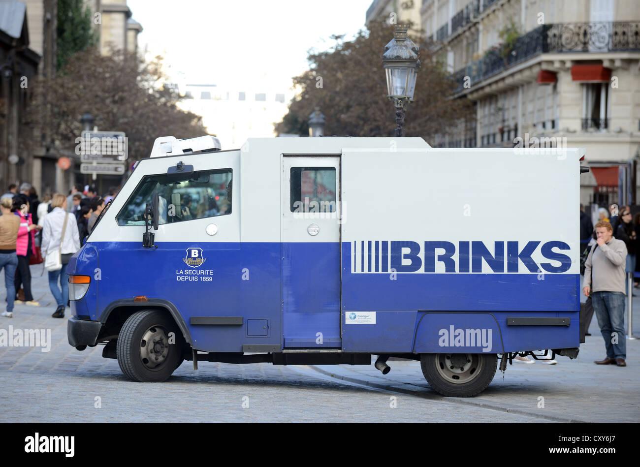 Brinks security van, France - Stock Image
