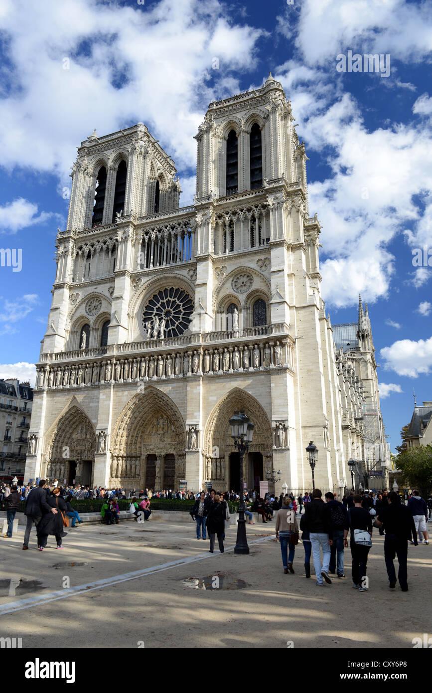 Notre Dame Cathedral, Notre Dame de Paris, France - Stock Image