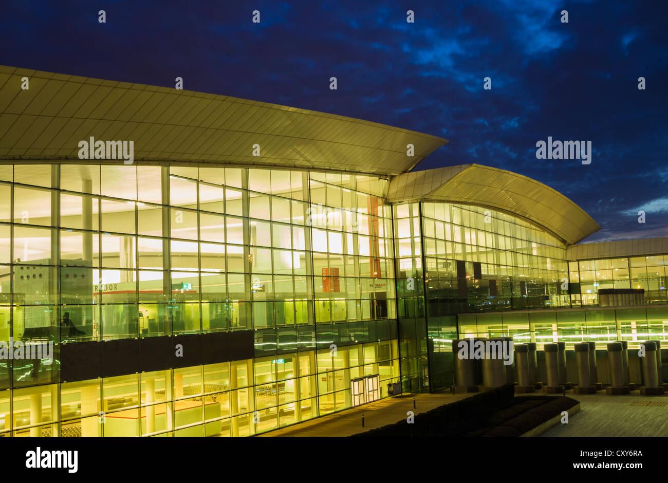 Terminal one at El Prat airport in Barcelona, Spain - Stock Image