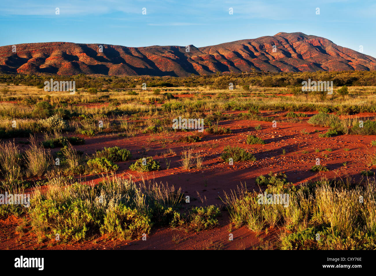 MacDonnell Ranges at the end of the day. - Stock Image