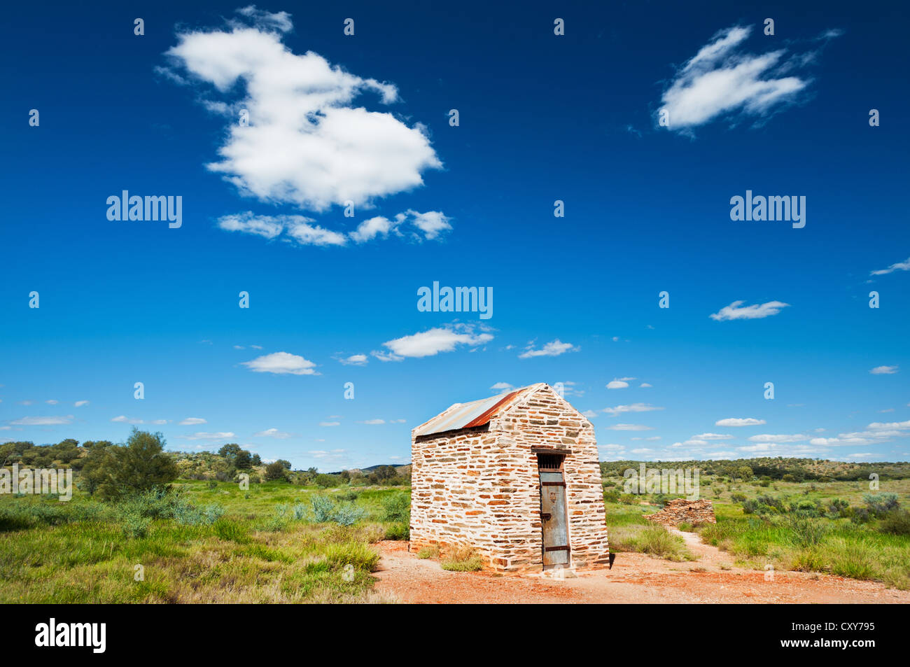 Historical Arltunga Prison in the East MacDonnell Ranges. - Stock Image