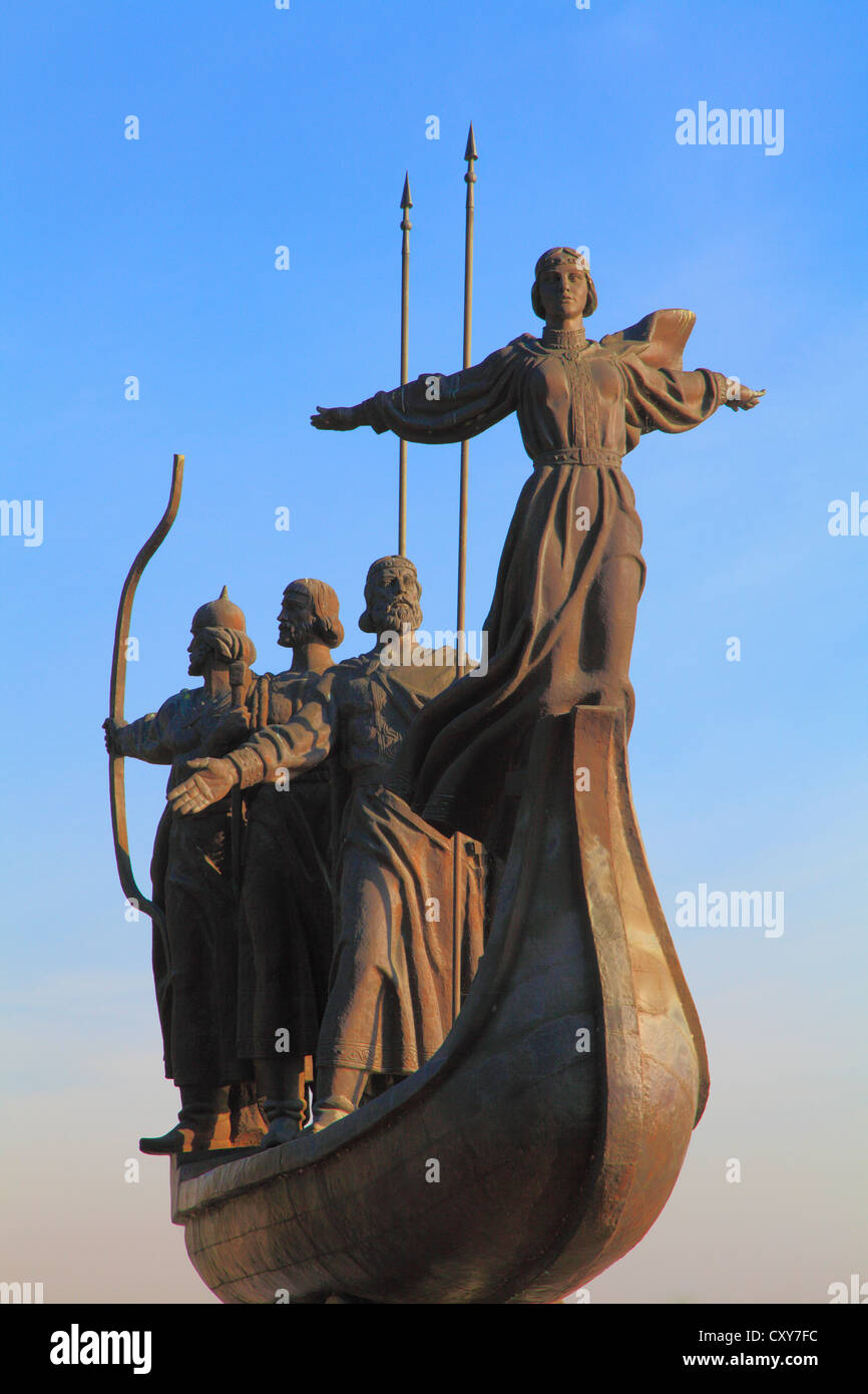 Ukraine, Kiev, Kyiv, Foundation of Kiev Monument, - Stock Image