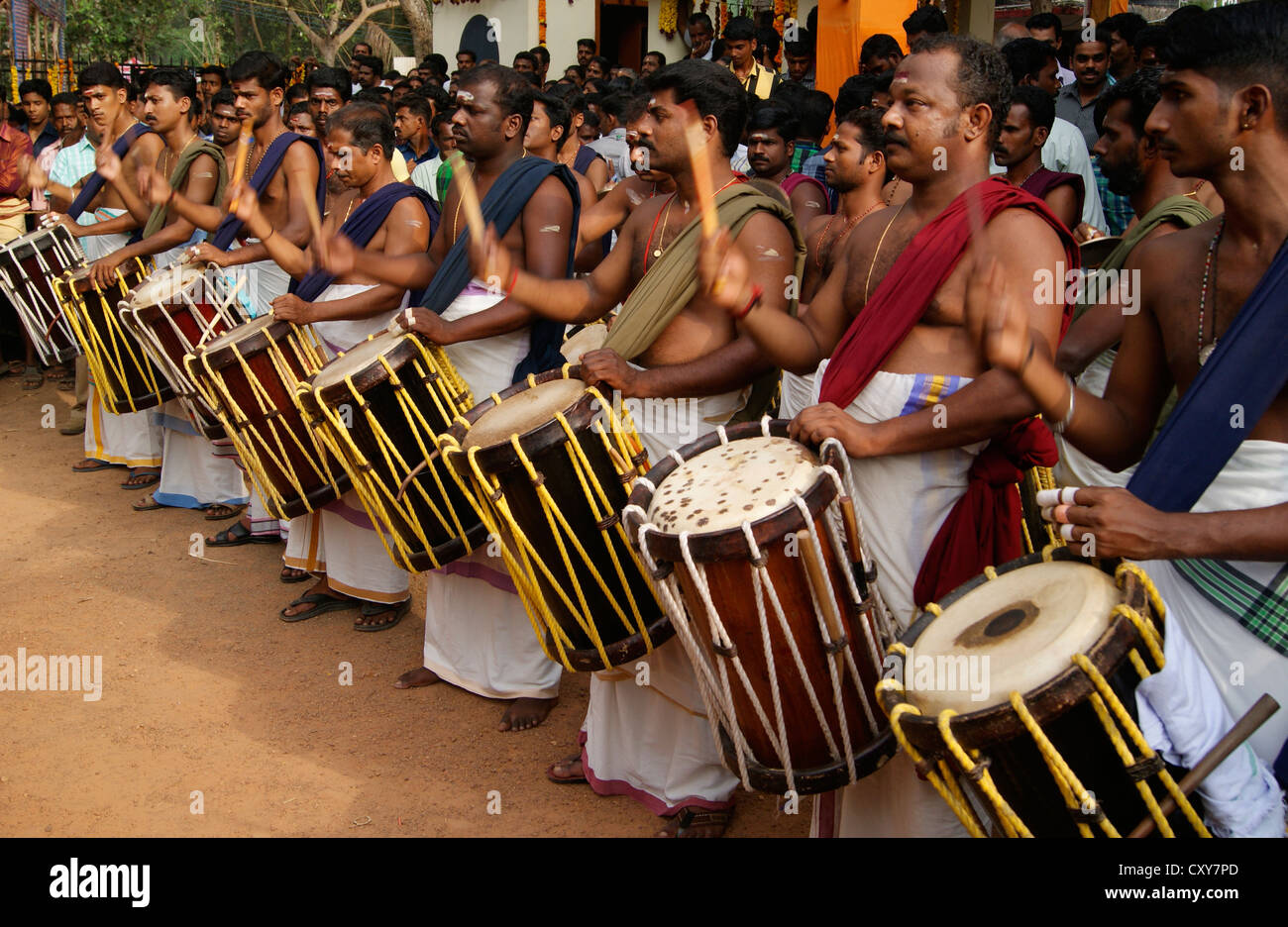 Chenda Melam (Temple Musics playing with Traditional Drums