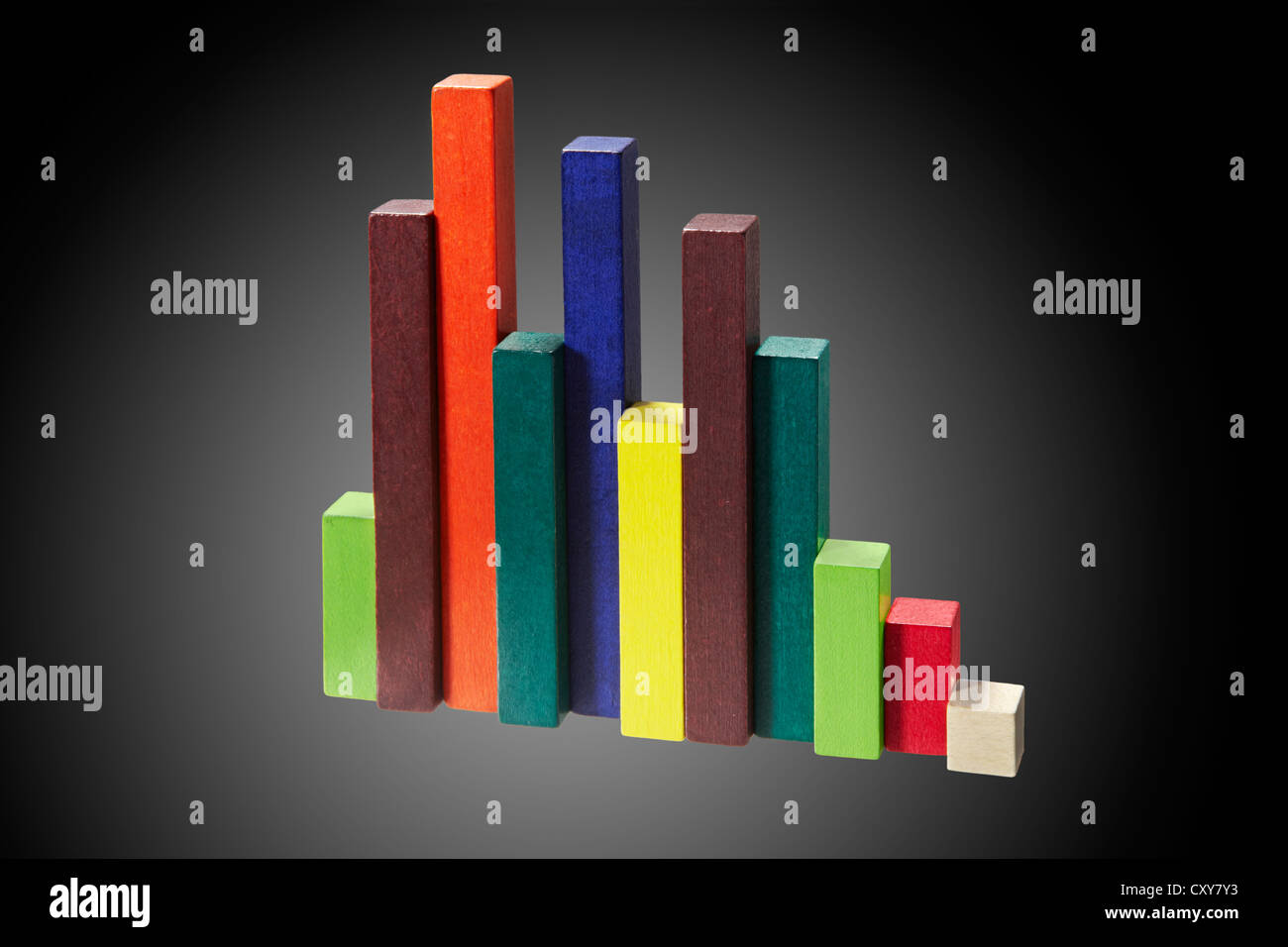 Colourful Wooden Blocks - Stock Image