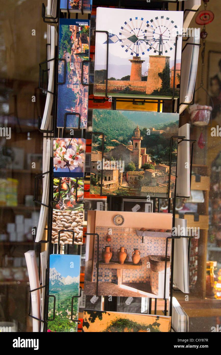 Mallorca postcards photos - Stock Image