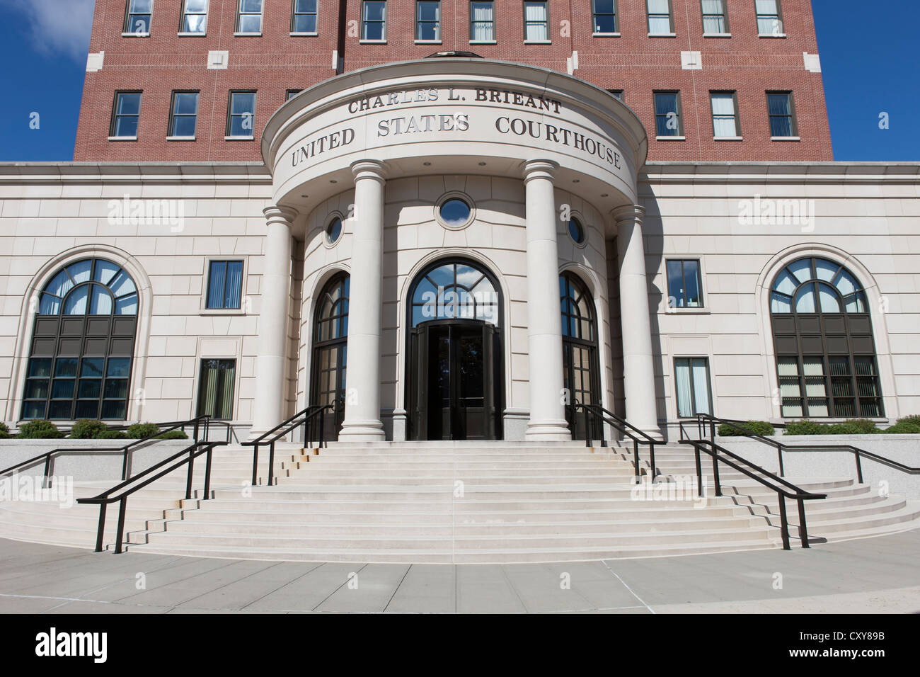 The Charles L. Brieant United States Federal Building and Courthouse (Southern District of New York) in White Plains, - Stock Image