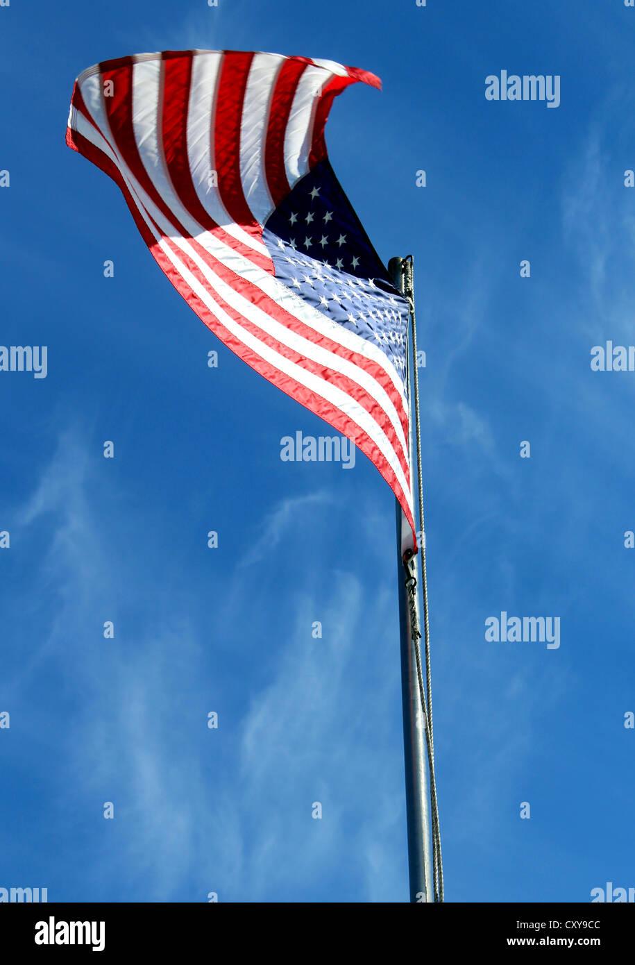 USA flag, American flag, 'Stars and Stripes' United States of America flag - Stock Image