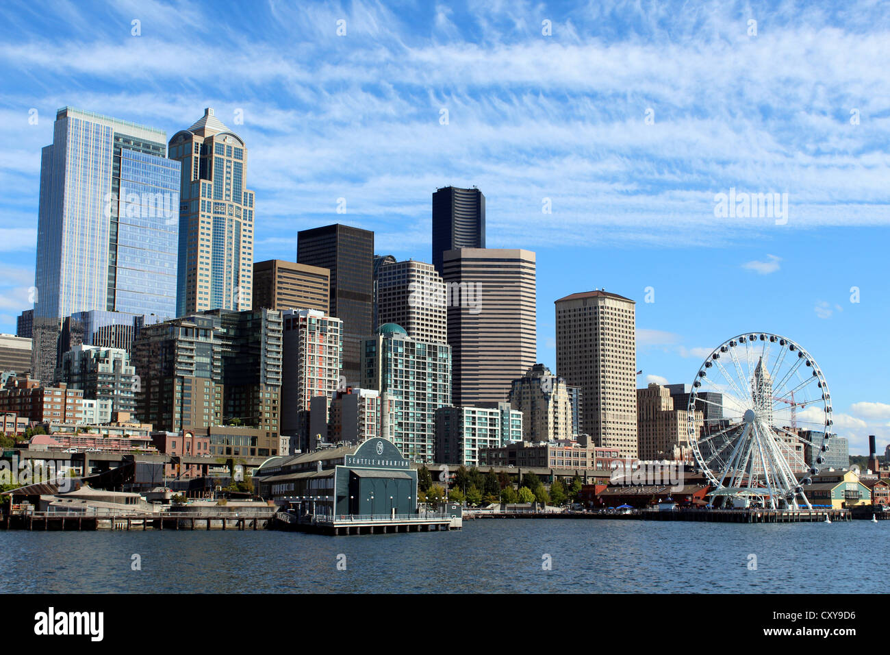 Seattle skyline, Seattle, Washington, USA - Stock Image